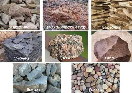 Види каменів, які застосовують для створення і оформлення клумб
