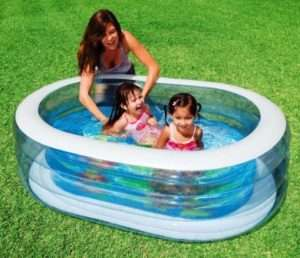 Надувний басейн овальної форми