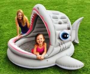 Дитячий басейн з надувним навісом