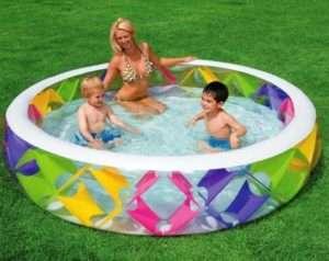 Круглий басейн для дачі