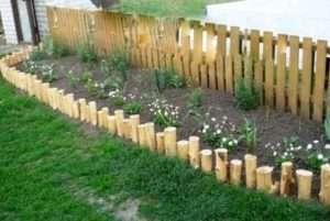 Бордюри для клумб з дерева