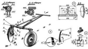 Схема саморобного підгортальника