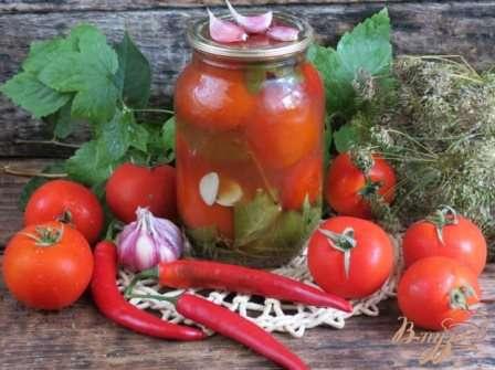 Рецепт приготування помідорів р кетчупом Чілі від Торчин