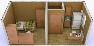 Інтер'єр дачного будинка з контейнера