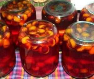 приготування компоту зі слив і абрикос в домашніх умовах