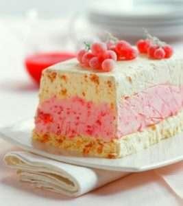 Новорічний фруктовий торт-морозиво